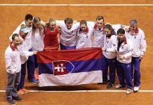 La Slovacchia festeggia la vittoria (foto Costantini)