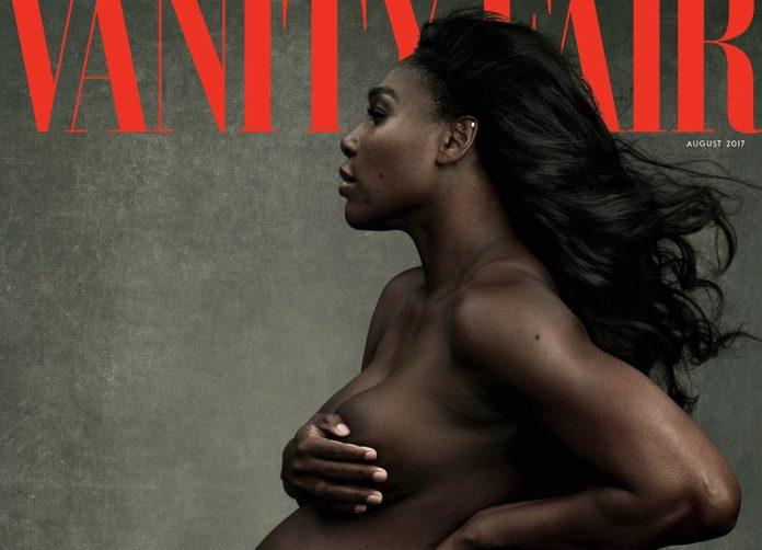 Serena Williams nuda e incinta sulla copertina di Vanity Fair